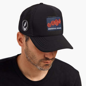 James Perse GRATEFUL DEAD ROSE PATCH TRUCKER HAT