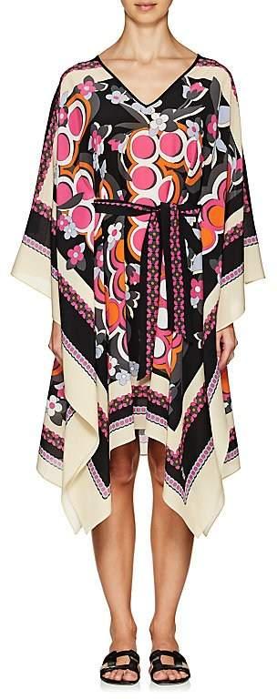 Fendi Women's Floral-Print Silk Caftan