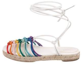 Chloé Leather Lace-Up Sandals