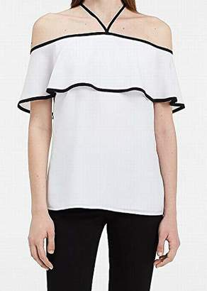 Calvin Klein Women's Off Shoulder Ruffle Top