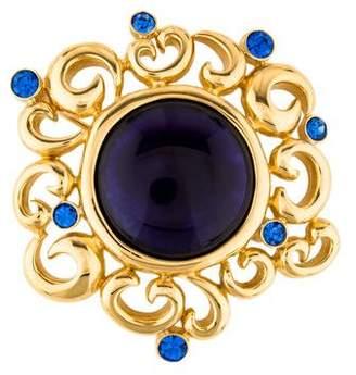 Givenchy Resin & Crystal Swirl Brooch