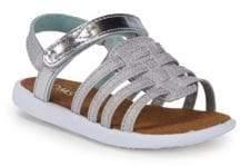 Toms Little Girl's & Girl's Metallic Strap Sandals