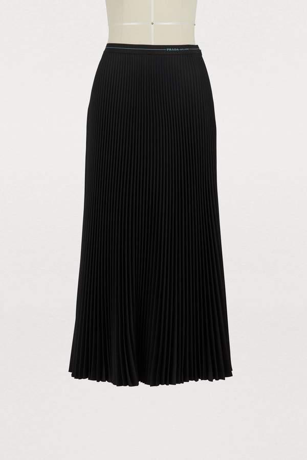 Prada Pleated straight skirt