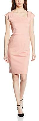 French Connection Women's LULA Stretch SS Asymetric NK Dress