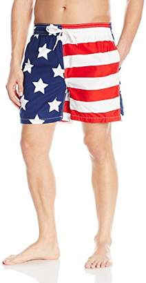 Kanu Surf Men's USA Flag Patriotic Volley Swim Trunks