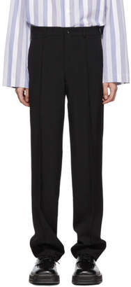 Comme des Garcons Black Tropical Wool Trousers