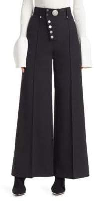 Alexander Wang Multi-Button Wide Leg Trousers