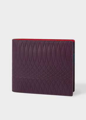 Paul Smith No.9 - Damson Leather Billfold Wallet With Multi-Coloured Interior
