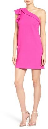 Women's Greylin One-Shoulder Shift Dress $138 thestylecure.com