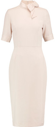 Goat Bow-Embellished Wool-Crepe Dress $780 thestylecure.com