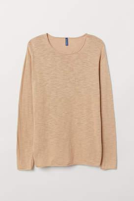 H&M Slub-knit Sweater - Beige