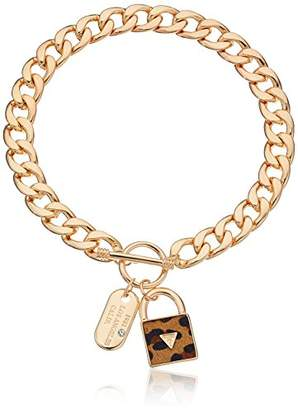"GUESS Basic"" Gold Dogtag and Padlock Pendant Necklace"