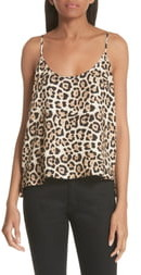 ATM Anthony Thomas Melillo Leopard Print Silk Camisole