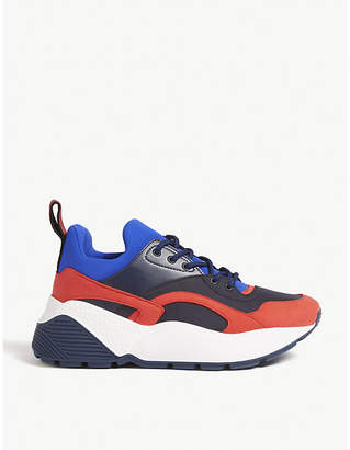 Stella McCartney Eclypse faux-leather and faux-suede trainers