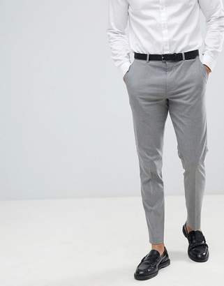 Burton Menswear slim fit suit pants in grey