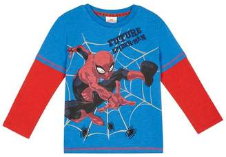 Character Spider-man - Boys' Red And Blue 'Spider-Man' T-Shirt