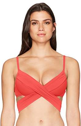 LaBlanca La Blanca Women's Island Goddess Wrap Underwire Push Up Bikini Swimsuit Top