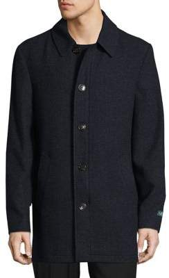 Lauren Ralph Lauren Wool-Blend Button Topcoat