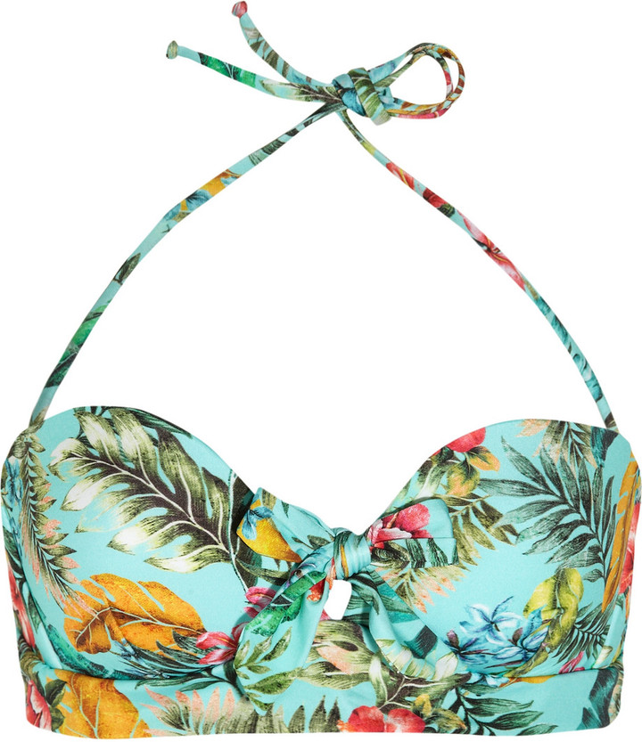 JETS by Jessika Allen Plantation printed halterneck bikini top