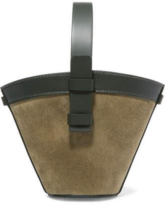 Nico Giani - Nelia Mini Suede And Leather Bucket Bag - Sage green