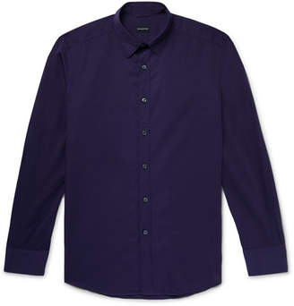Ermenegildo Zegna Cotton-Poplin Shirt - Men - Dark purple