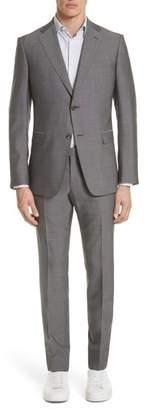 Z Zegna Trim Fit Solid Wool & Silk Suit