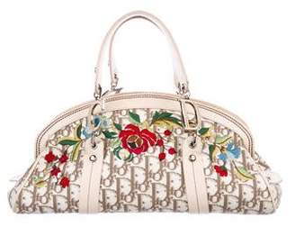 Christian Dior Floral Embroidered Handle Bag