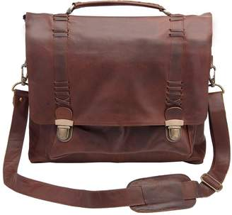 MAHI Leather - Leather Classic Satchel Messenger Bag in Vintage Brown