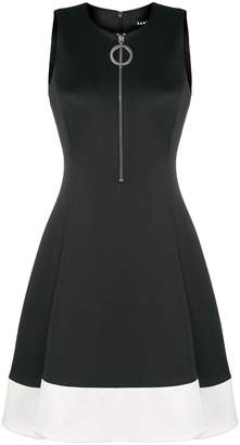 DKNY front zip midi dress