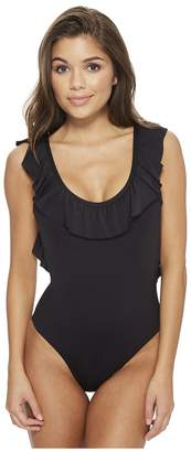 Kenneth Cole Ready To Ruffle U-Neck Mio Women's Swimsuits One Piece