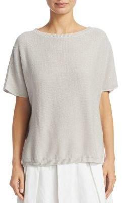 Fabiana Filippi Short Sleeve Sequin Knit Pullover