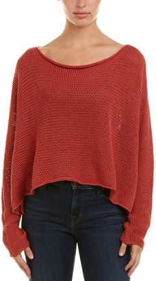 BCBGMAXAZRIA Boatneck Linen Pullover Sweater