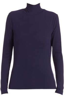 St. John Caviar Collection Long-Sleeve Top