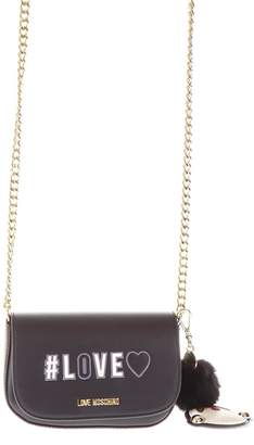 Love Moschino Small Black Bag With Key Ring Detail