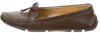 pradaPrada Semi Pointed-Toe Leather Loafers