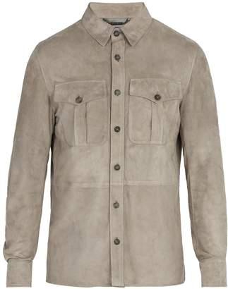 Ralph Lauren Purple Label Barron point-collar suede jacket