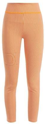 Fendi (フェンディ) - FENDI Striped logo-print performance leggings