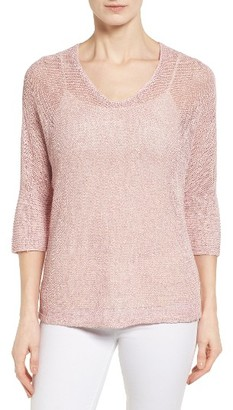 Women's Nic+Zoe Sunkissed Sheer Linen Blend Pullover $138 thestylecure.com