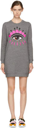 Kenzo Grey Eye Sweatshirt Dress