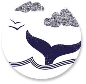 Whale Tail Round Sticker Selflaunch Non-Custom Stickers