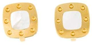 Roberto Coin 18K Mother of Pearl Pois Moi Earclips