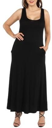 24/7 Comfort Apparel 24Seven Comfort Apparel Marion Sleeveless Plus Size Maxi Dress