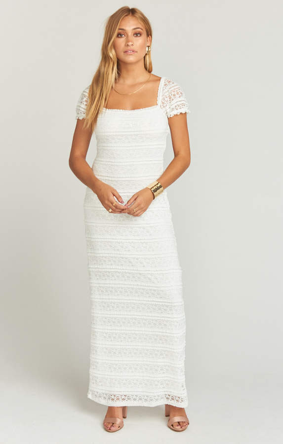 Show Me Your Mumu Stella Maxi Dress ~ One and Only Lace White