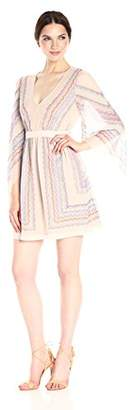 BCBGMAXAZRIA Azria Women's Jenissa Woven Scarf Print Dress