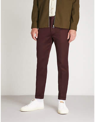 Paul Smith Slim-fit tapered stretch-cotton trousers