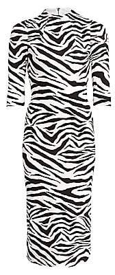 Alice + Olivia Women's Delora Zebra-Print Sheath Dress - Size 0
