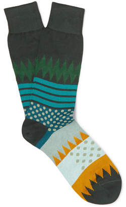 Paul Smith Yuzu Intarsia Cotton-Blend Socks