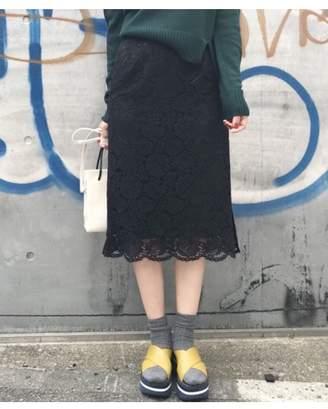 aquagirl (アクアガール) - アクアガール スリットレーススカート