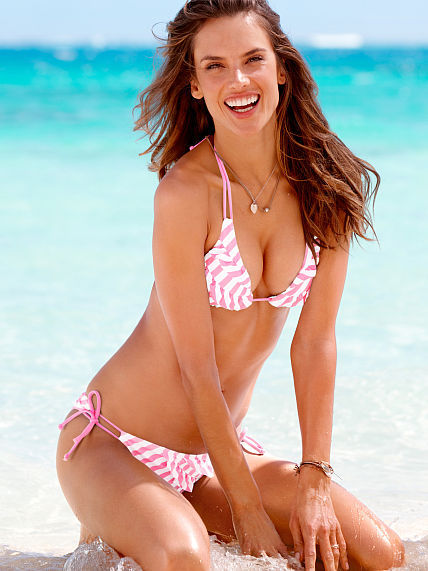 Beach Sexy Ruffle Push-Up Triangle Top