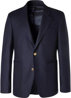 Privee SALLE Navy Havre Slim-Fit Wool Blazer